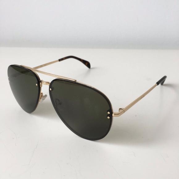 634018eda5ca Celine Accessories   Cline Mirror Cl 41391s Goldgreen Sunglasses ...